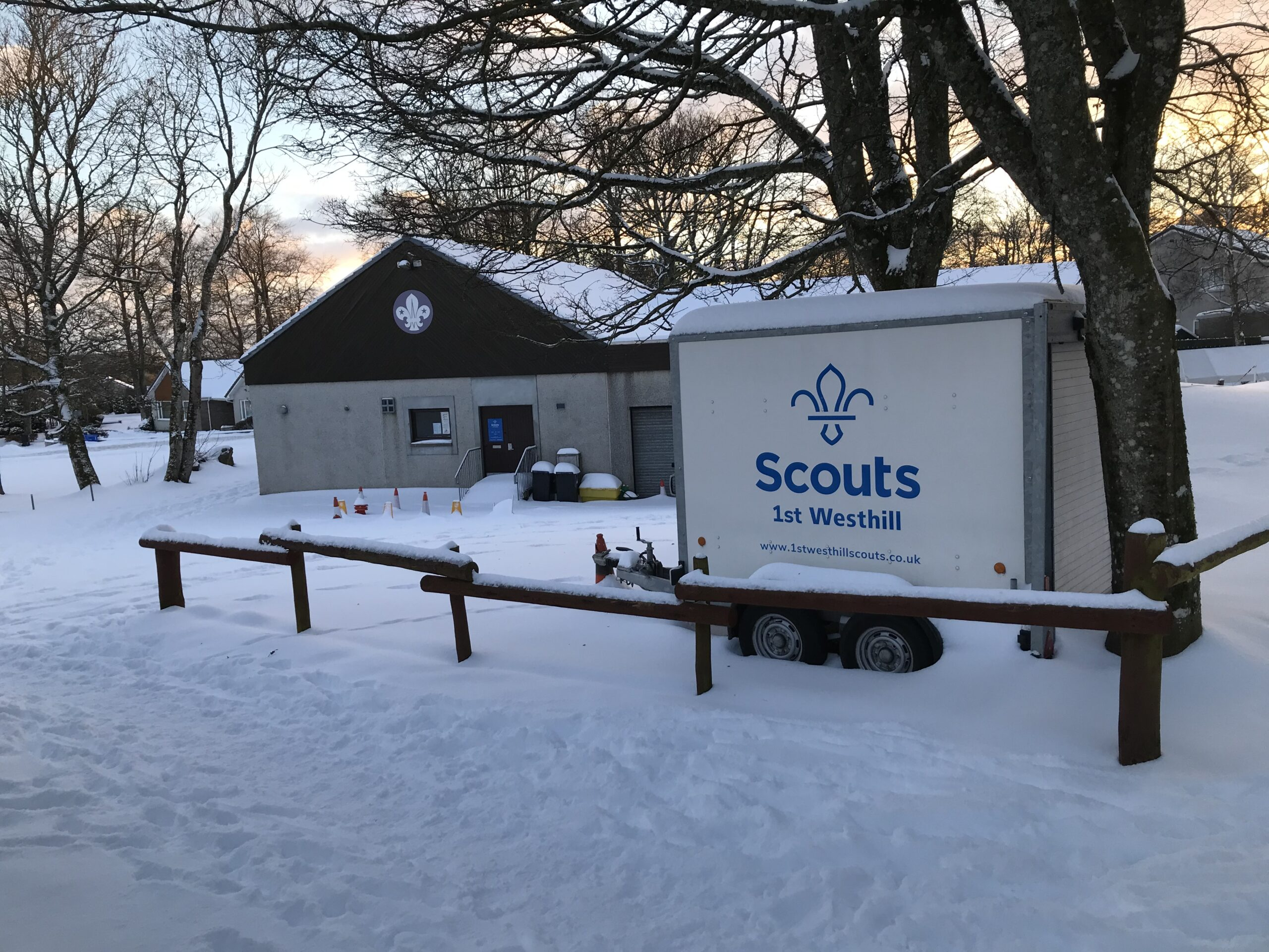 2021 Snow at the Scout hall